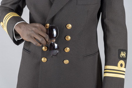 Lieutenant Commander wearing uniform of the South African Navy.