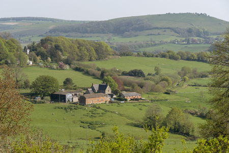 Shaftsbury, Dorset, England, UK. April 2019. A rural view across open Dorset countryside from Shaftesbury.