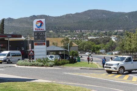 Caledon, Western Cape, South Africa. Dec 2019.  Fuel filling station edge of this town, located in the Overberg region. Redakční