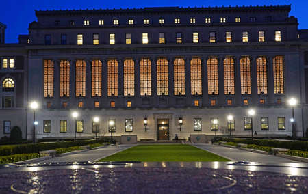 Manhattan, New york, USA. 2020. Columbia University by night, Manhattan, New York USA.