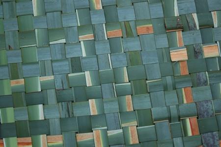 new zealand flax: Mat of woven flax, New Zealand