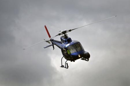 chopper tijdens de vlucht, Westland, Nieuw-Zeeland