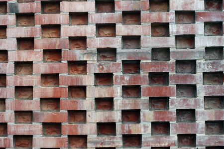 orderly: unusual brick wall pattern Stock Photo