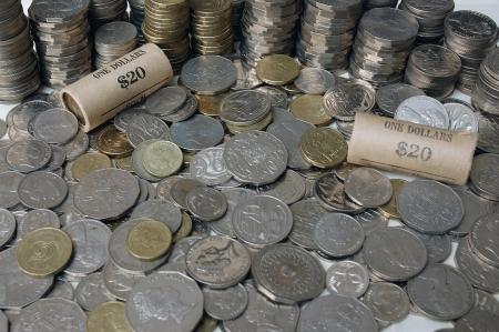 financed: Piles of Australian decimal coins
