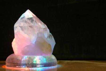 backlighting on large crystal Stock Photo - 15279175