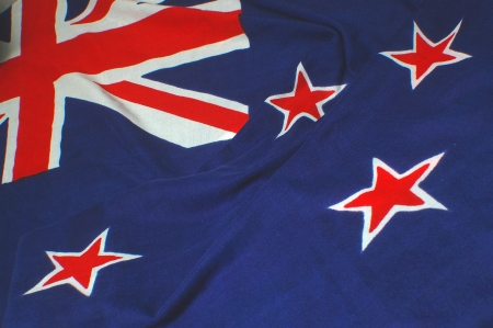 main elements of the New Zealand flag - Union Jack and stars of the Southern Cross photo