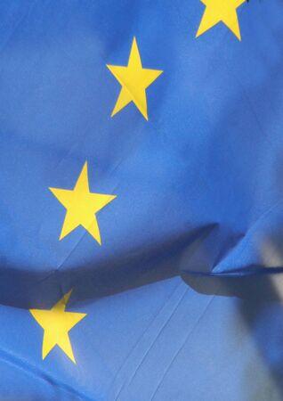 yellows: stars on the European Union flag Stock Photo
