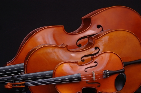 smaller: double bass, cello and violin