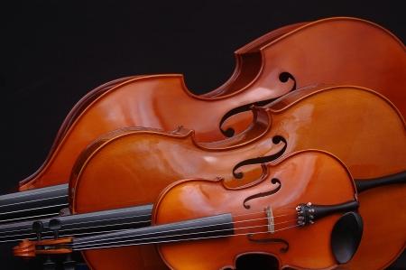 Kontrabass, Cello und Violine
