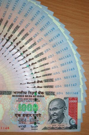indian money: Currency from India Stock Photo