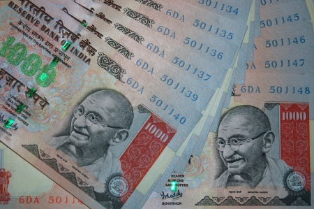 1000 rupee notes from India Stock Photo - 15366603