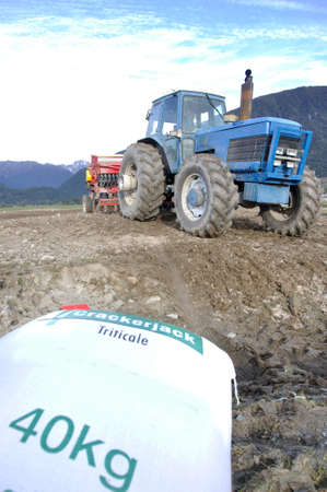 landuse:  drilling triticale for a dairy  silage crop, Westland, New Zealand