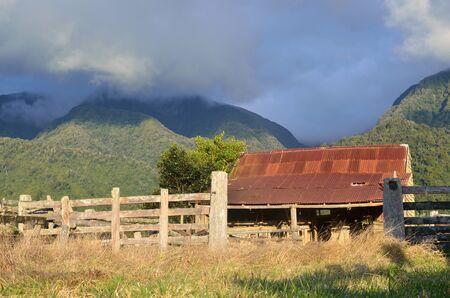 landuse: Old barn on a farm in South Westland, New Zealand