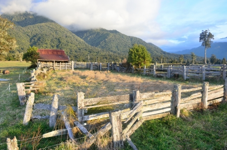 landuse: Old barn on a farm in South Westland, New Zealand