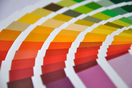 hues: Background of painters colour chart