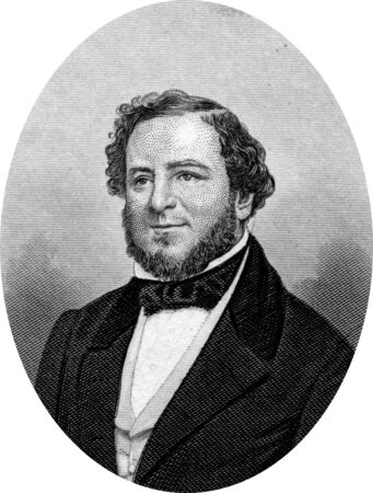 Engraving of Confederate politician Judah Philip Benjamin, QC  August 6, 1811 May 6, 1884 , an American politician and lawyer  Benjamin was a member of the Louisiana House of Representatives, and in 1852,  was elected by the state legislature to the US Se