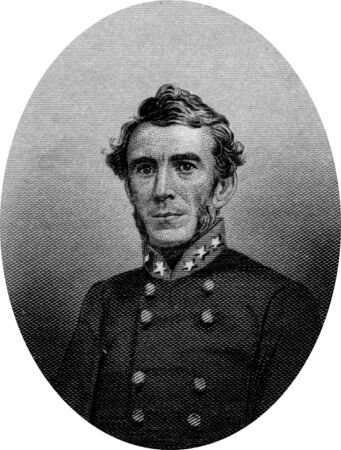 Engraving of Confederate General Braxton Bragg  March 22, 1817  September 27, 1876 , a career United States Army officer, and then a general in the Confederate States Army   a principal commander in the Western Theater of the American Civil War and later  Editorial
