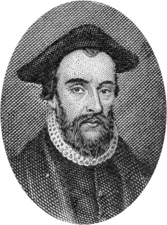 chaplain: Engraving of John Bradford, chaplain in the Church of England, 1500 (?) - 1555, martyred under Queen Mary; by an unknown artist, published in Daniel and the Revelation by Uriah Smith, Signs Publishing Company Limited, 1909.