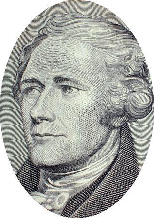 alexander hamilton: Incisione di Alexander Hamilton (11 Gennaio 1755 o 1757 [1] - 12 luglio 1804), uno dei padri fondatori, soldato, economista, filosofo politico, uno dei primi avvocati costituzionali dell'America e il primo Stati Uniti il ??segretario del Tesoro. Immagine adap Editoriali