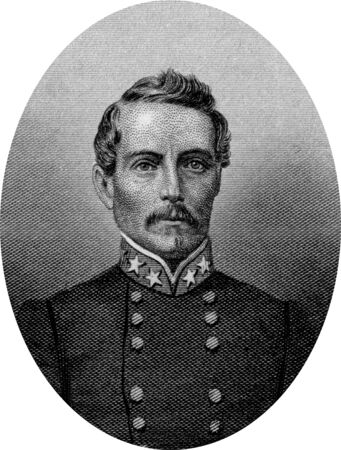 Engraving of Confederate  Lieutenant General Pierre Gustave Toutant Beauregard (May 28, 1818 – February 20, 1893), a Louisiana-born American military officer, politician, inventor, writer, civil servant, and the first prominent general of the Confederat Stock Photo - 17262598