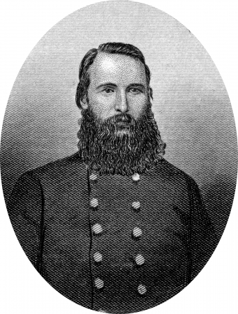 Engraving of Confederate Lieutenant General James Longstreet (January 8, 1821 – January 2, 1904), one of the foremost Confederate generals of the American Civil War and the principal subordinate to General Robert E. Lee, who called him his