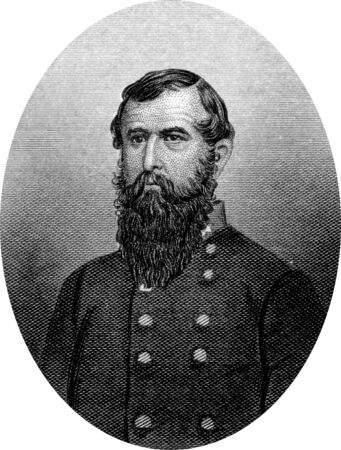 Engraving of Confederate Lieutenant General John Clifford Pemberton (August 10, 1814 – July 13, 1881), a career United States Army officer who served as a Confederate general during the American Civil War, noted for his defeat and surrender in the criti