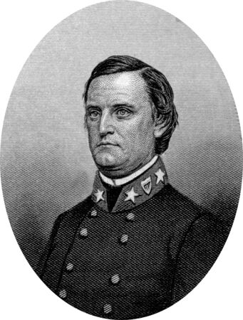 Engraving of Confederate Major General John Cabell Breckinridge (January 16, 1821 – May 17, 1875), an American lawyer and politician. He served as a U.S. Representative and U.S. Senator from Kentucky and was the 14th Vice President of the United States  Editorial