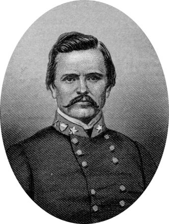 Engraving of Confederate Major General Simon Bolivar Buckner (April 1, 1823 – January 8, 1914) fought in the United States Army in the Mexican–American War and in the Confederate States Army during the American Civil War. He later served as the 30th G