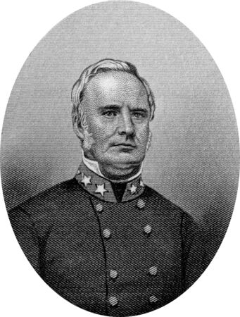 Engraving of Confederate Major General Sterling Price (September 20, 1809 – September 29, 1867), a lawyer, planter, and politician from the U.S. state of Missouri, who served as the 11th Governor of the state from 1853 to 1857. He also served as a Unite Editorial