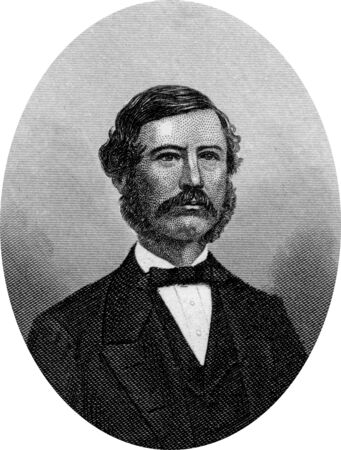 Engraving of Confederate politician Robert Barnwell Rhett, Sr. (December 21, 1800 – September 14, 1876), was a United States secessionist politician from South Carolina. He owned the Charleston Mercury. Original engraving by John Buttre, circa 1866.