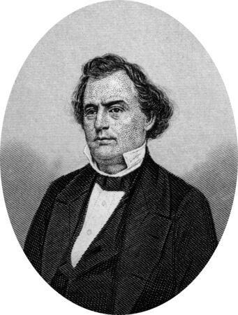whig: Engraving of Confederate politician Robert Augustus Toombs (July 2, 1810 – December 15, 1885) who was an American and Confederate political leader, Whig Party Senator from Georgia, a founding father of the Confederacy, its first Secretary of State, and  Editorial