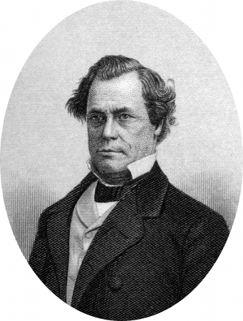 abolitionist: Engraving of Emancipist Owen Lovejoy (January 6, 1811 – March 25, 1864). an American lawyer, Congregational minister, abolitionist, and Republican congressma. He was also a conductor on the Underground Railroad. After his brother Elijah Lovejoy was mu Editorial