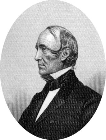 Engraving of  Wendell Phillips (29 November 1811 – 2 February 1884),   an American abolitionist, advocate for Native Americans, orator and lawyer. Original engraving by John Buttre, circa 1866. Stock Photo - 17262578