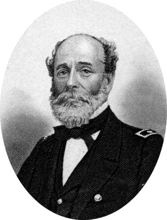 abolitionists: Engraving of Rear Admiral Charles Stuart Boggs (28 January 1811 – 22 April 1877), who served in the United States Navy during the Mexican-American War and the American Civil War. Original engraving by John Buttre, circa 1866. Editorial