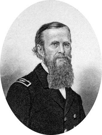 Engraving of John Lorimer Worden (12 March 1818 – 19 October 1897), a U.S. rear admiral who served in the American Civil War. He commanded Monitor against the Confederate vessel Virginia (originally named Merrimack) in the first battle of ironclad ships Editorial
