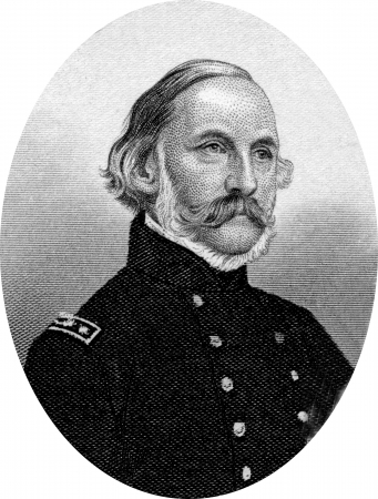 Engraving of Charles Henry Davis (January 16, 1807 – February 18, 1877), a Rear Admiral in the United States Navy, serving primarily during the American Civil War, and with the United States Coast Survey. Original engraving by John Buttre, circa 1866. Stock Photo - 17262583