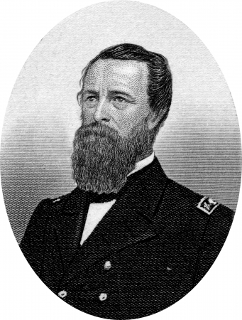Engraving of David Dixon Porter (June 8, 1813 – February 13, 1891), a member of one of the most distinguished families in the history of the United States Navy. Promoted as the second man to the rank of admiral, after his adoptive brother David G. Farra