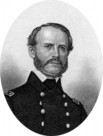 Engraving of John Adolphus Bernard Dahlgren (November 13, 1809 – July 12, 1870), who headed the Union Navys ordnance department during the American Civil War and designed several different kinds of guns and cannons that were considered part of the reas