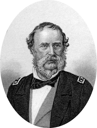 Engraving of Samuel Francis Du Pont (September 27, 1803 – June 23, 1865), an American naval officer, and a member of the prominent Du Pont family; he was the only member of his generation to use a capital D. He served prominently during the Mexican-Amer Stock Photo - 17262576