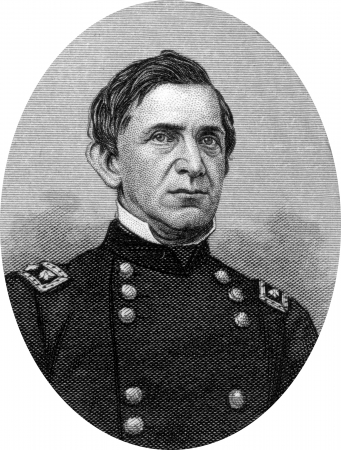 Engraving of Union Major General Edward Richard Sprigg Canby (November 9, 1817 – April 11, 1873), a career United States Army officer and a Union general in the American Civil War, Reconstruction era, and the Indian Wars.Canbywas assassinated at a peace Stock Photo - 17262601
