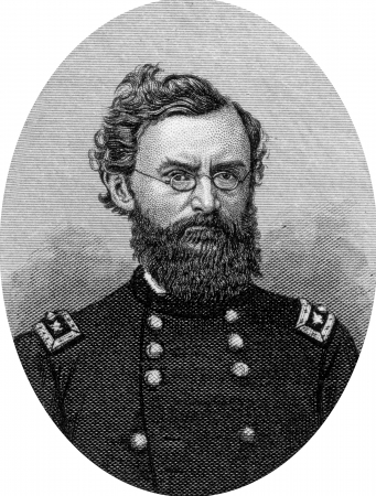 Engraving of Union Major General Carl Christian Schurz (March 2, 1829 – May 14, 1906), a German revolutionary, American statesman and reformer, and Union Army General in the American Civil War. He was also an accomplished journalist, newspaper editor, s