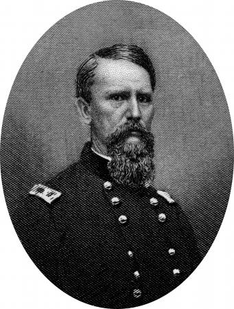 Engraving of Union Major General  Frank P Blair Jnr. Original engraving by John Buttre, circa 1866. Editorial
