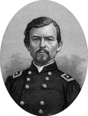 Engraving of Union Major General Franz Sigel. Original engraving by John Buttre, circa 1866. Stock Photo - 17262584