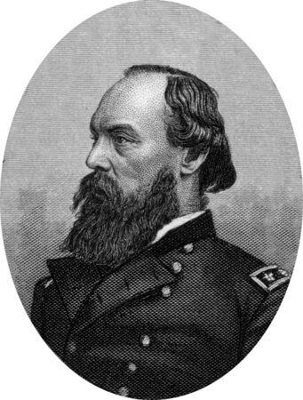 Engraving of Union Major General Gordon Granger. Original engraving by John Buttre, circa 1866. Stock Photo - 17262604