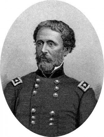 Engraving of Union Major General John Charles Fremont, (January 21, 1813 – July 13, 1890), renowned explorer, statesman and failed presidential candidate. Original engraving by John Buttre, circa 1866. Stock Photo - 17262594