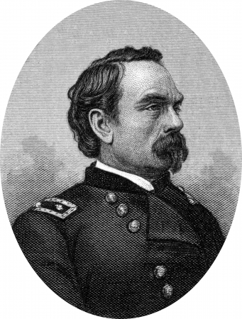 Engraving of Prussian-born Major General Peter Joseph Osterhaus (1823–1917), a Union Army General in the American Civil War, and later a diplomat to France. Original engraving by John Buttre, circa 1866. Stock Photo - 17262622