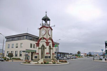 pioneering: town clock, Hokitika, West Coast, New Zealand