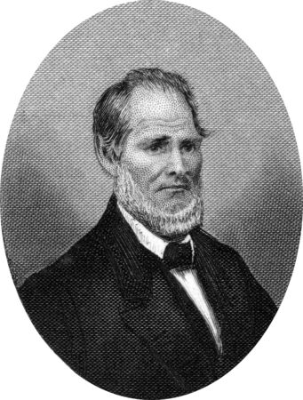 Engraving of Henry Smith Lane (February 24, 1811 ? June 18, 1881), a United States Representative, Senator, and the 13th Governor of Indiana - for two days!  Original engraving by John Buttre, circa 1866. Stock Photo - 17393233