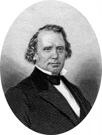 Engraving of Henry Wilson (16 February 1812 ? 22 November 1875), the 18th Vice President of the United States (1873?1875) and a Senator from Massachusetts (1855?1873).Original engraving by John Buttre, circa 1866. Stock Photo - 17393229