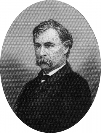 Engraving of Henry Winter Davis (August 16, 1817 ? 30 December 1865), a United States Representative from the 4th and 3rd congressional districts of Maryland, well known as one of the Radical Republicans during the Civil War. Original engraving by John Bu Stock Photo - 17393218